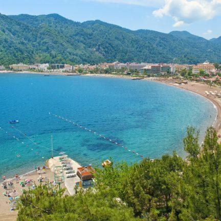 De baai van Marmaris in Turkije