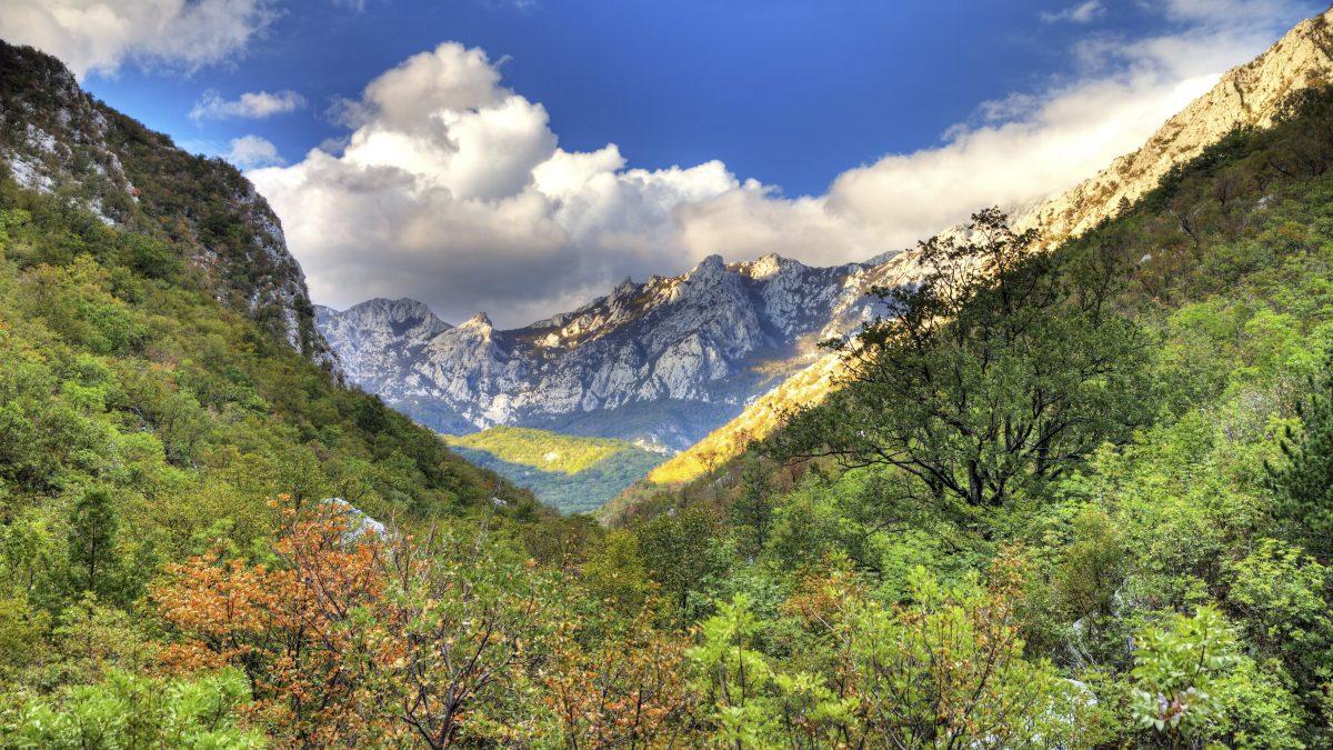 Bergen van nationaal park Velebit in Kroatië