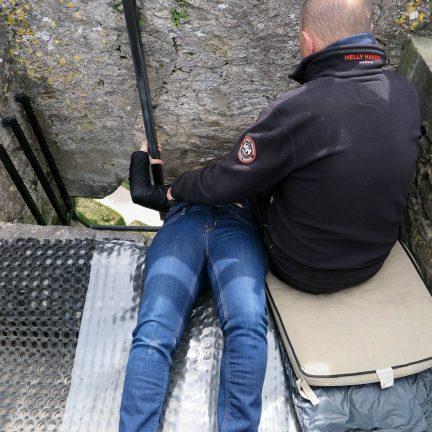 Blarney Stone in het kastaal van Blarney in Bantry, Ierland