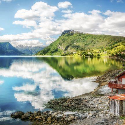 Lustrafjorden in Sognefjorden, Noorwegen