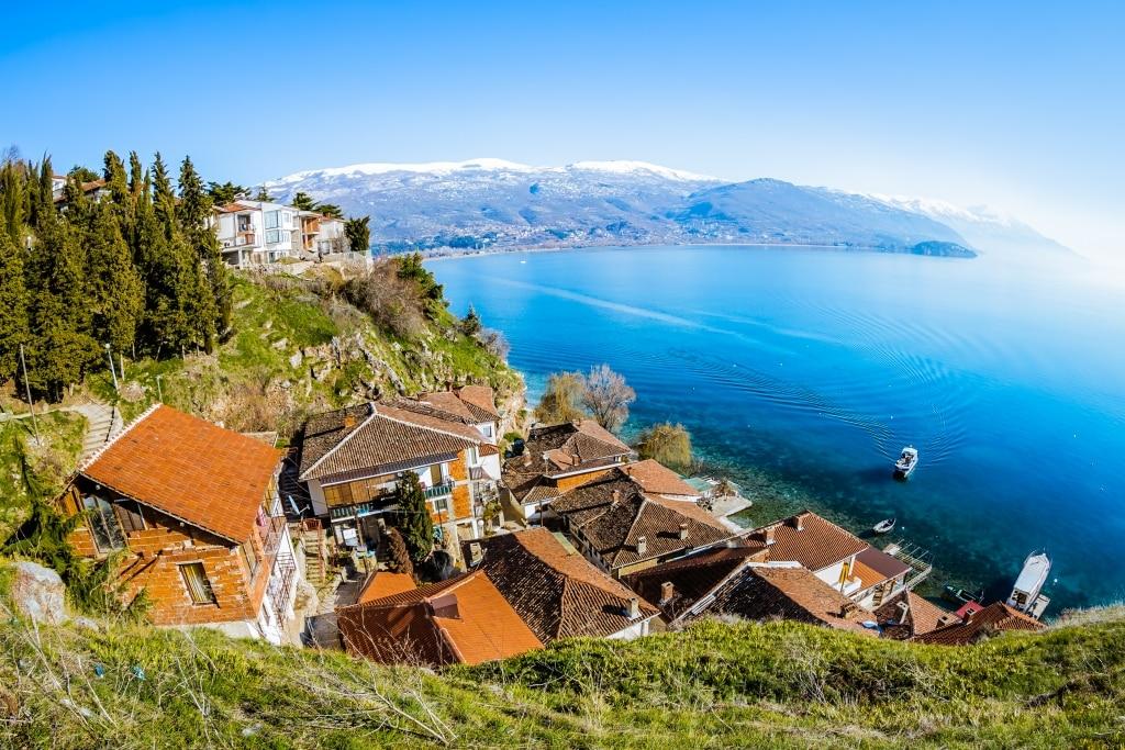 Meer van Ohrid in Macedonië