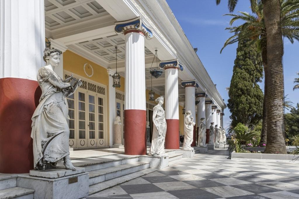 Paleis van keizerin Sisi: het Achilleion op Corfu, Griekenland
