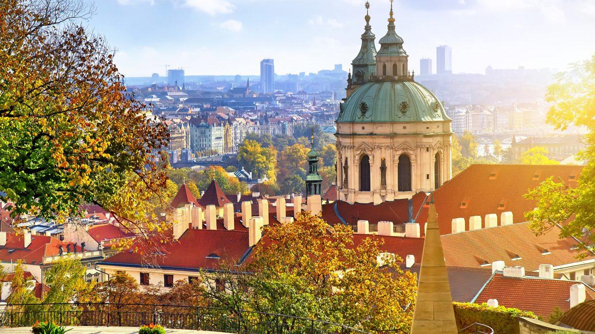 De oude stad in Praag, Tsjechië