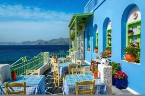 Restaurant op Kos, Griekenland