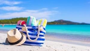 Strandspullen op het strand