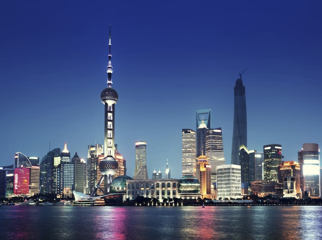Avond in Shanghai, China