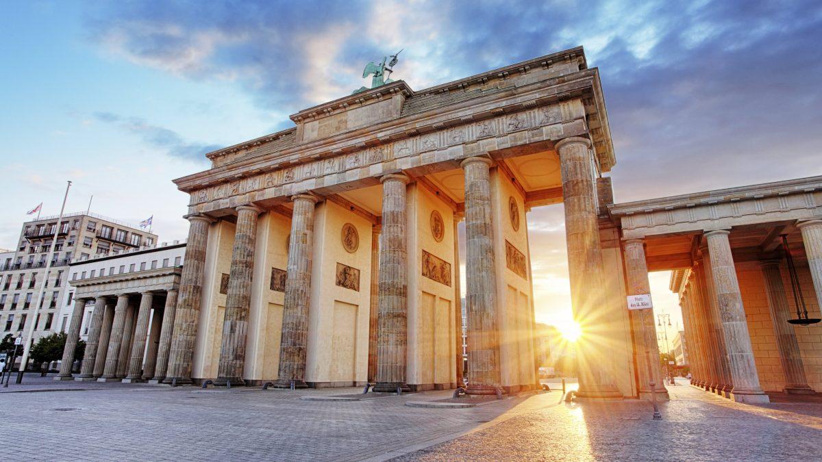 De Brandenburger Tor in Berlijn, Duitsland