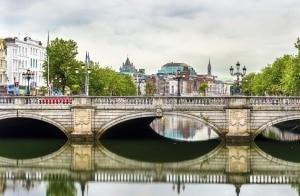 O'Connell Bridge in Dublin, Ierland