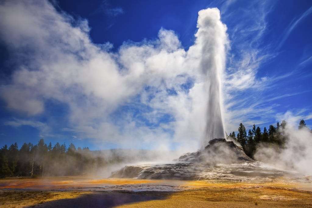 Castle Geyser in Yellowstone National Park, Verenigde Staten