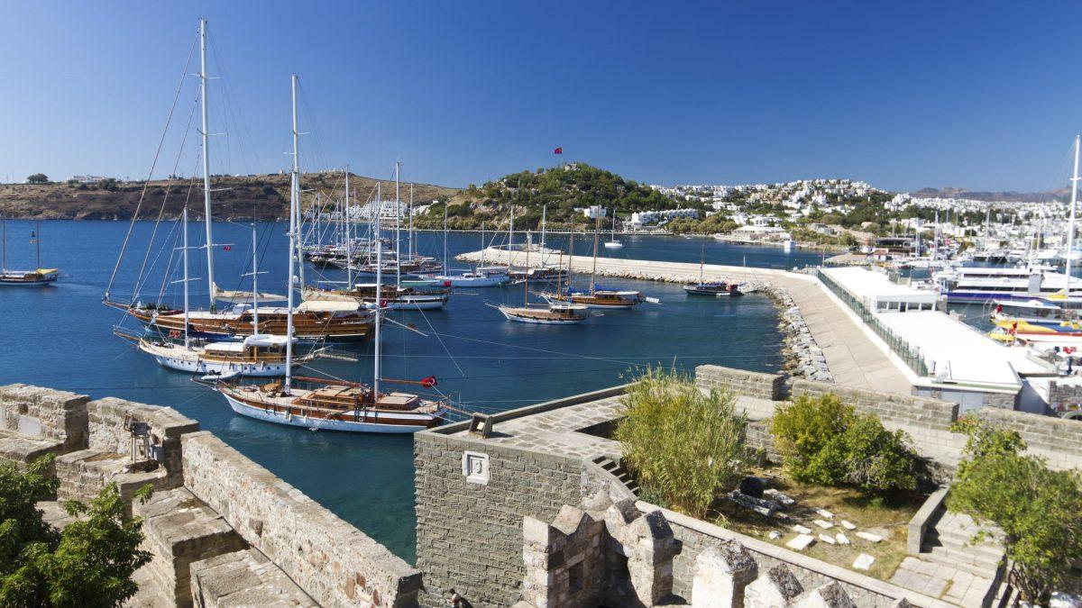 De haven van Bodrum in Turkije