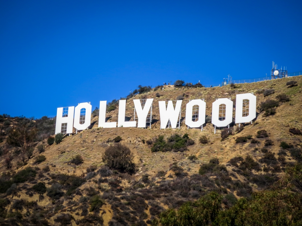 Hollywood bord in Los Angeles, Verenigde Staten