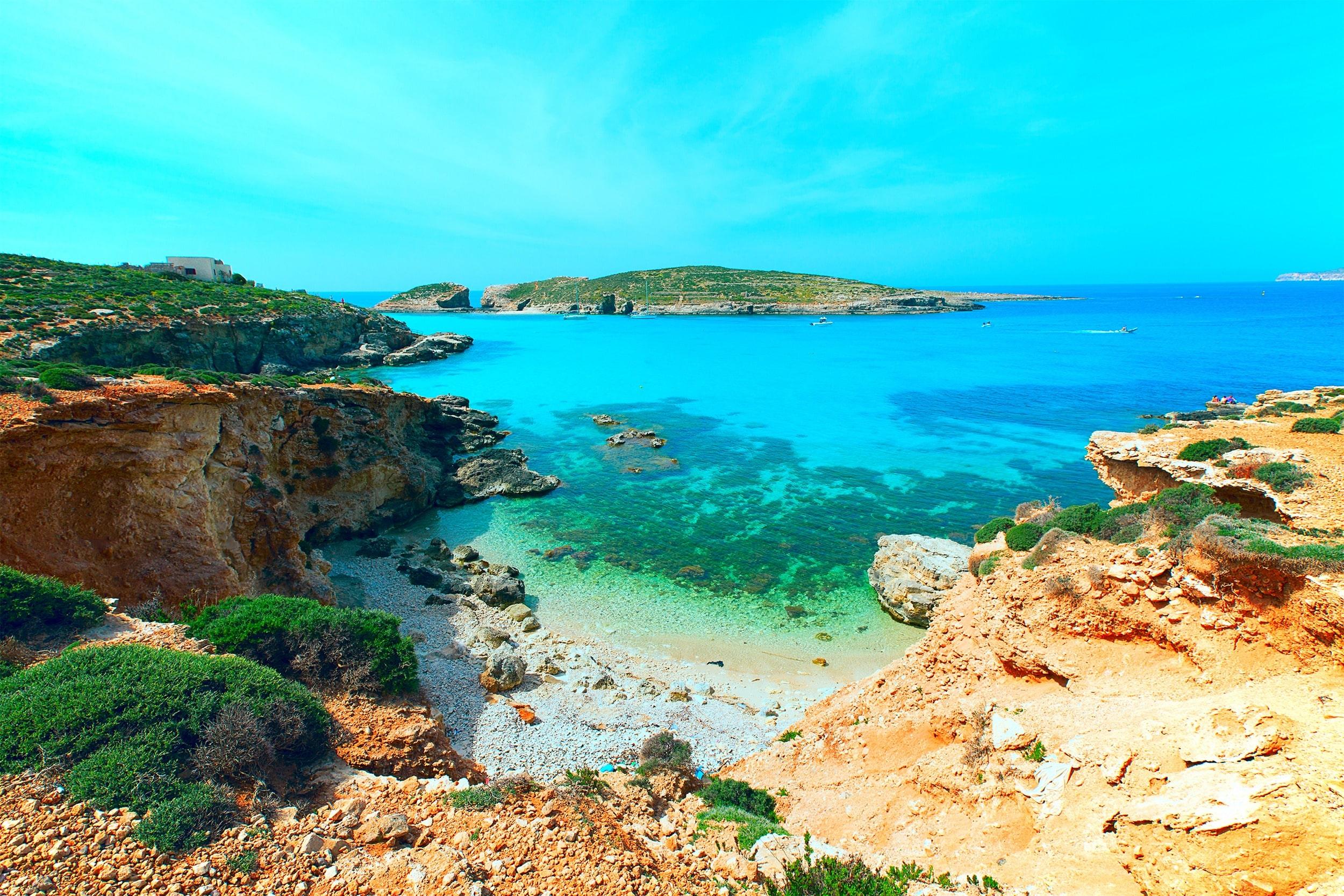 Laguna bij Gozo, Malta