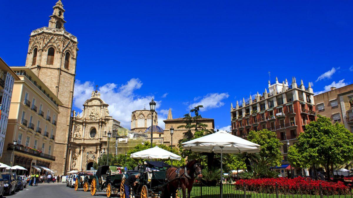 Plaza de la Reina in Valencia, Spanje