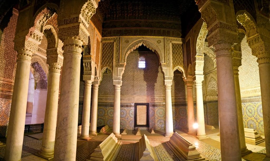 De Saaditombes in Marrakech, Marokko
