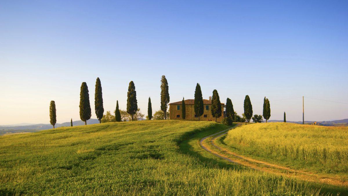 Toscaans landschap in Italië