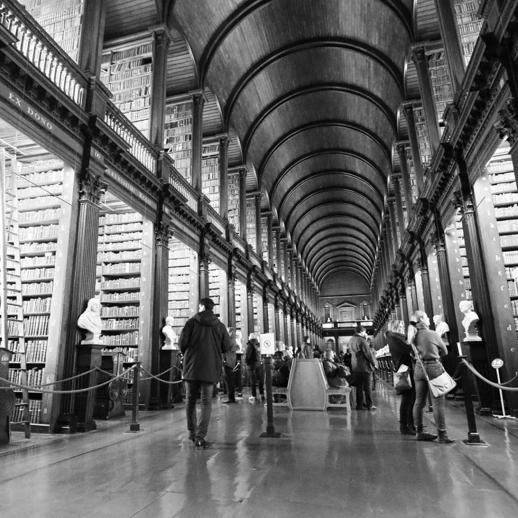 Trinity College Library in Dublin, Ierland