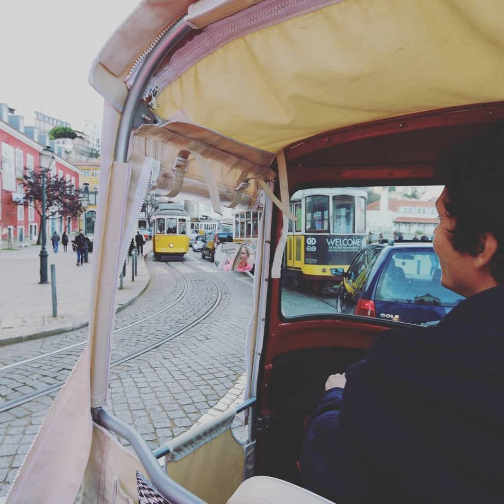 TukTuk in Lissabon, Portugal