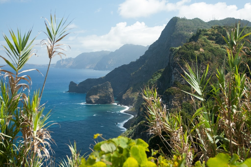 Uitzicht over zee op Madeira, Portugal