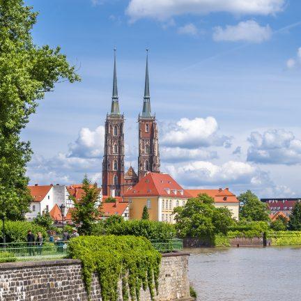 Kathedraal in Wroclaw, Polen