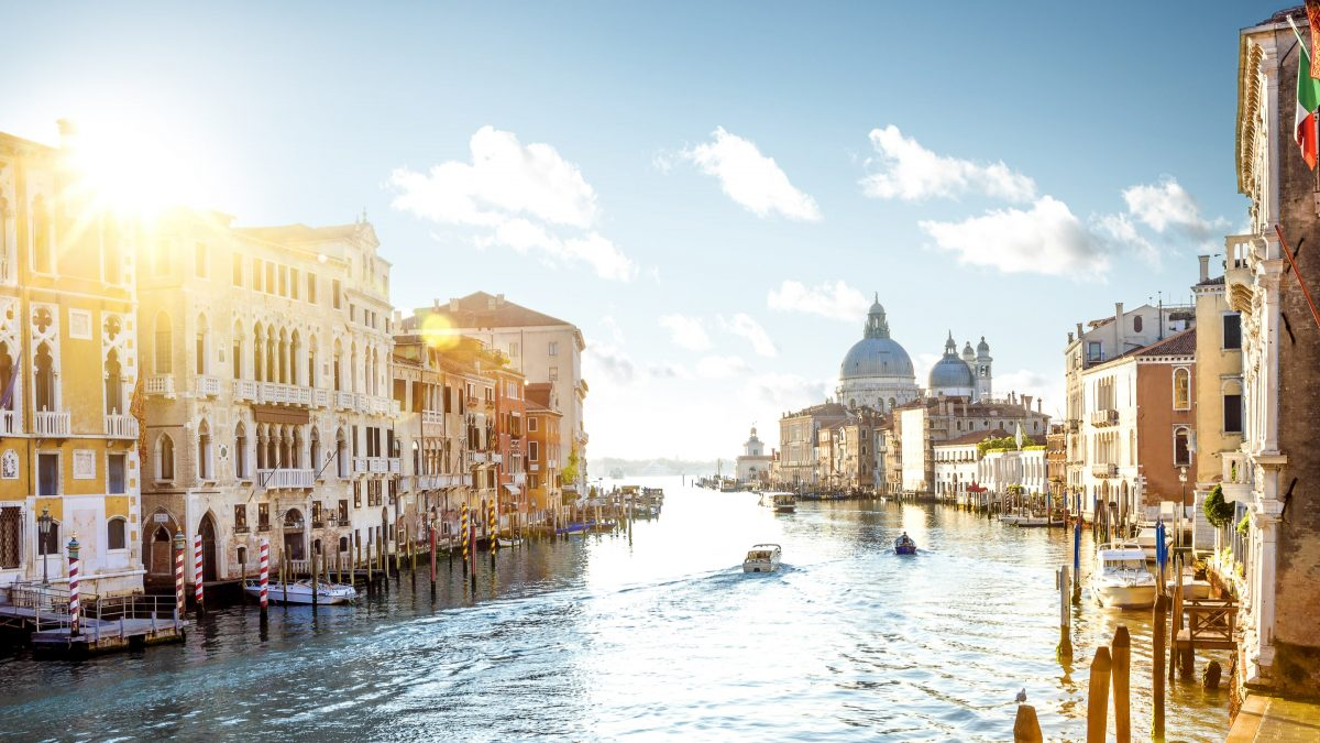 Uitzicht over Grand Canal in Venetië, Italië