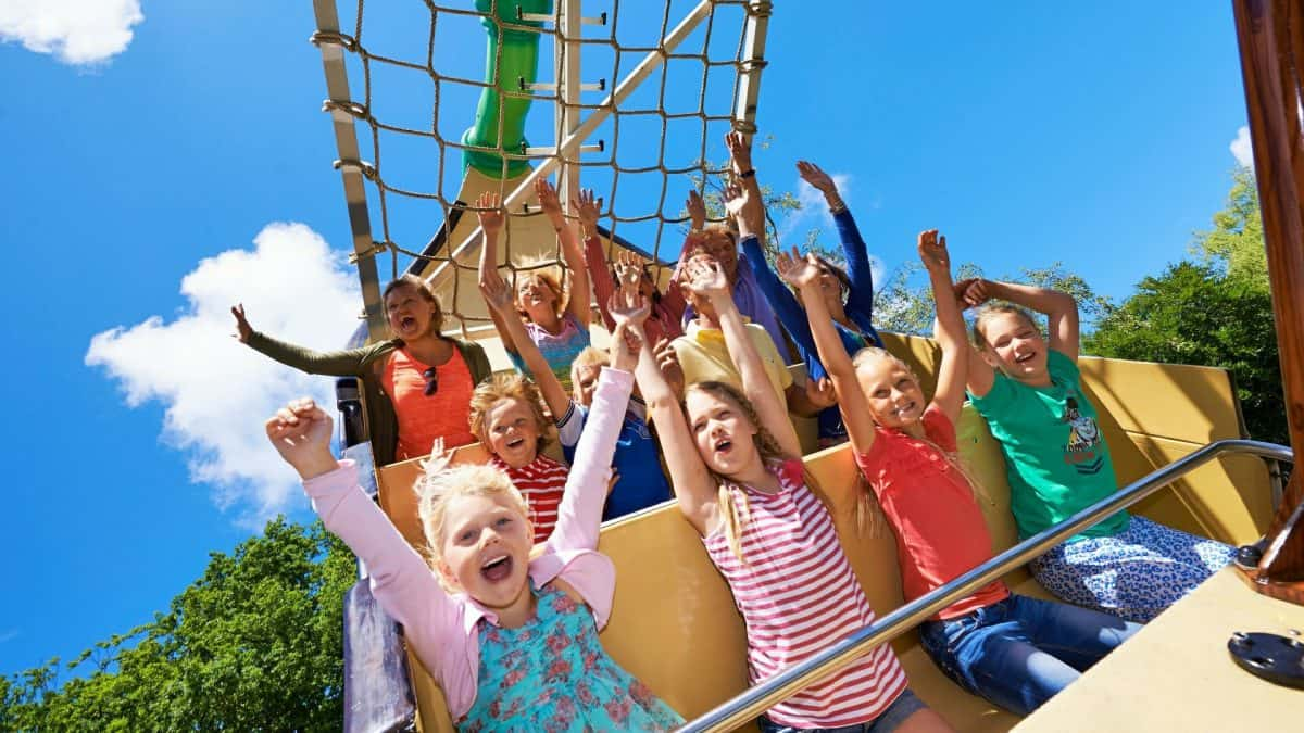 Attractie in pretpark Duinrell, Wassenaar