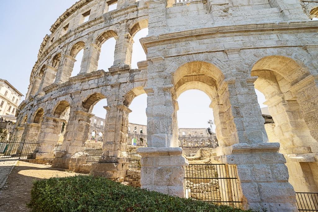 Romeinse amfitheater in Pula, Kroatië