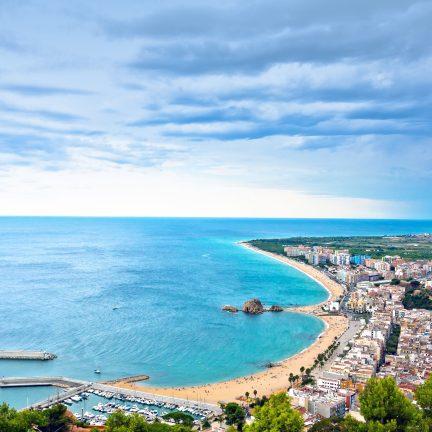 Strand van Blanes in Spanje