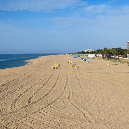 Strand van Malgrat de Mar, Spanje