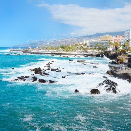 Strand van Puerto de la Cruz op Tenerife