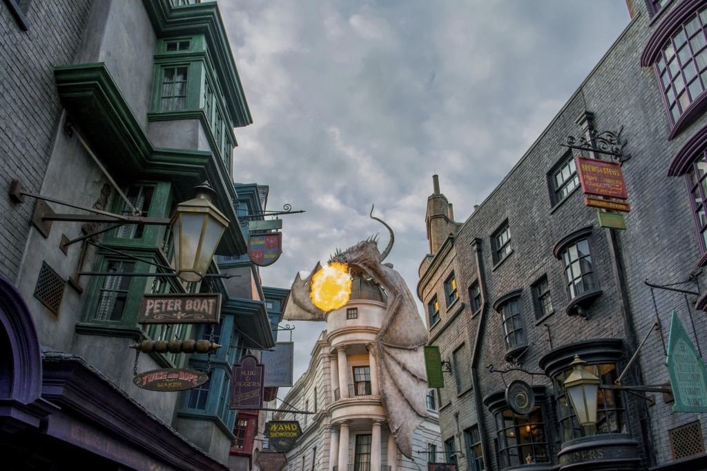 Wizarding World of Harry Potter in Universal Studios in Orlando, Florida, Amerika