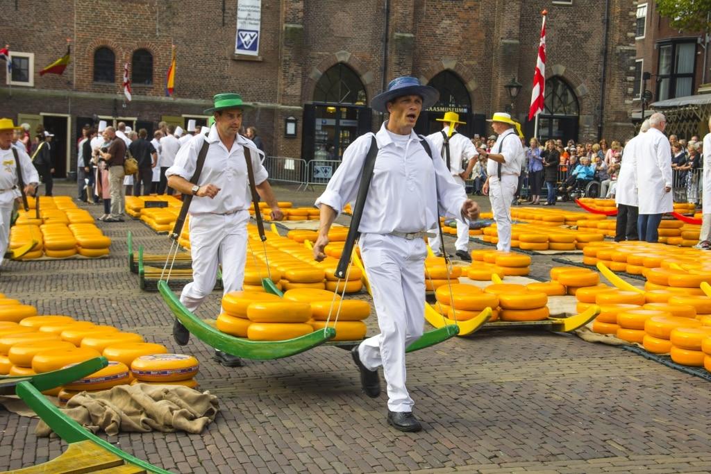 Kaasmarkt in Alkmaar, Noord-Holland