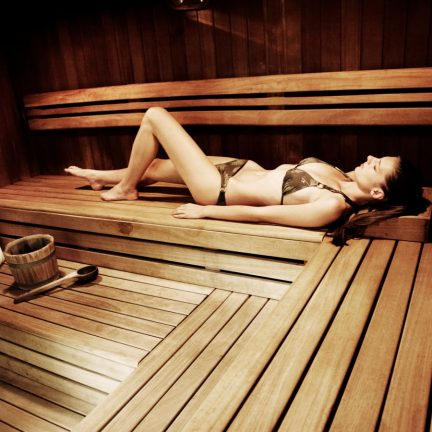 Sauna in The Aquincum Hotel in Boedapest, Hongarije