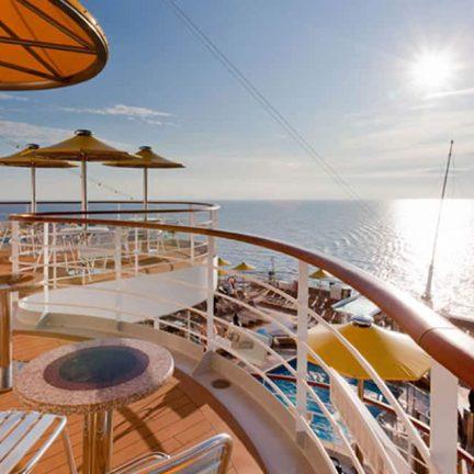 Uitzicht over zee op de Costa Fascinosa
