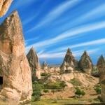 Aardpiramides in Cappadocië, Turkije