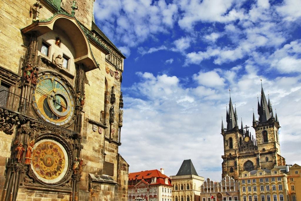Astronomisch uurwerk in Praag, Tsjechië