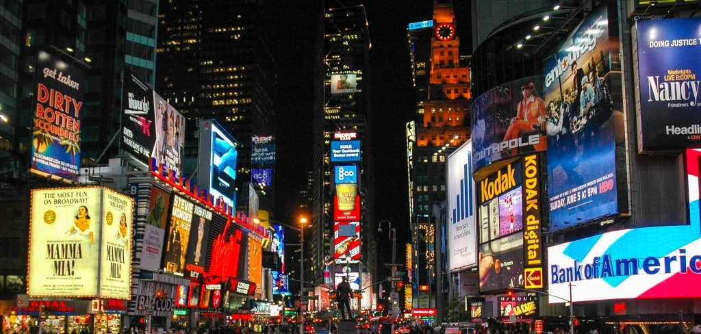 Broadway en Times Square in New York, Amerika