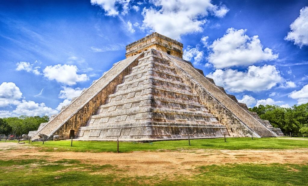 Kalkulcanpiramide in Chichén Itzá, Mexico