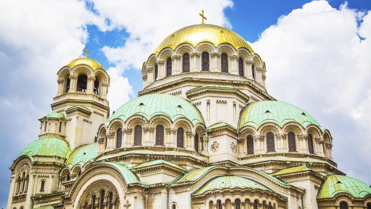 Detail van de Alexander Nevski Kathedraal in Sofia, Bulgarije