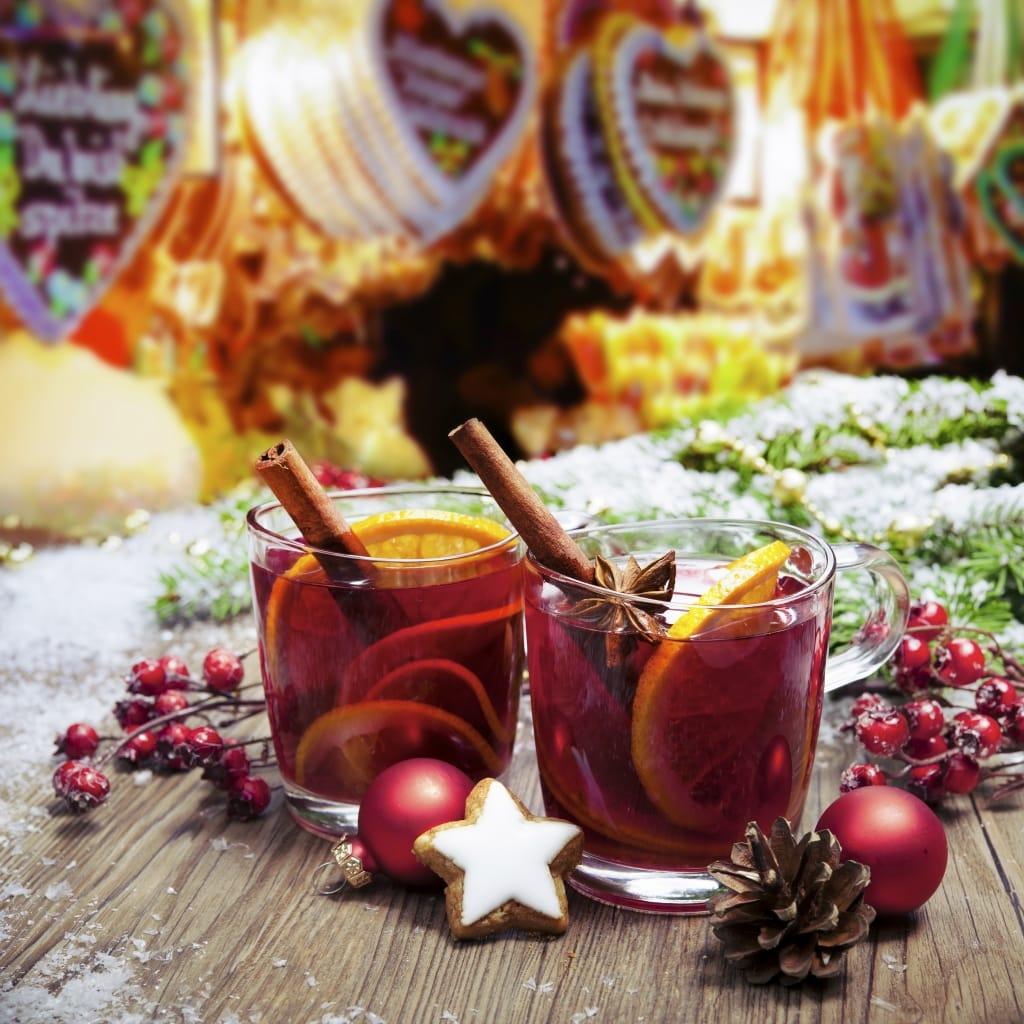 Glühwein op de kerstmarkt