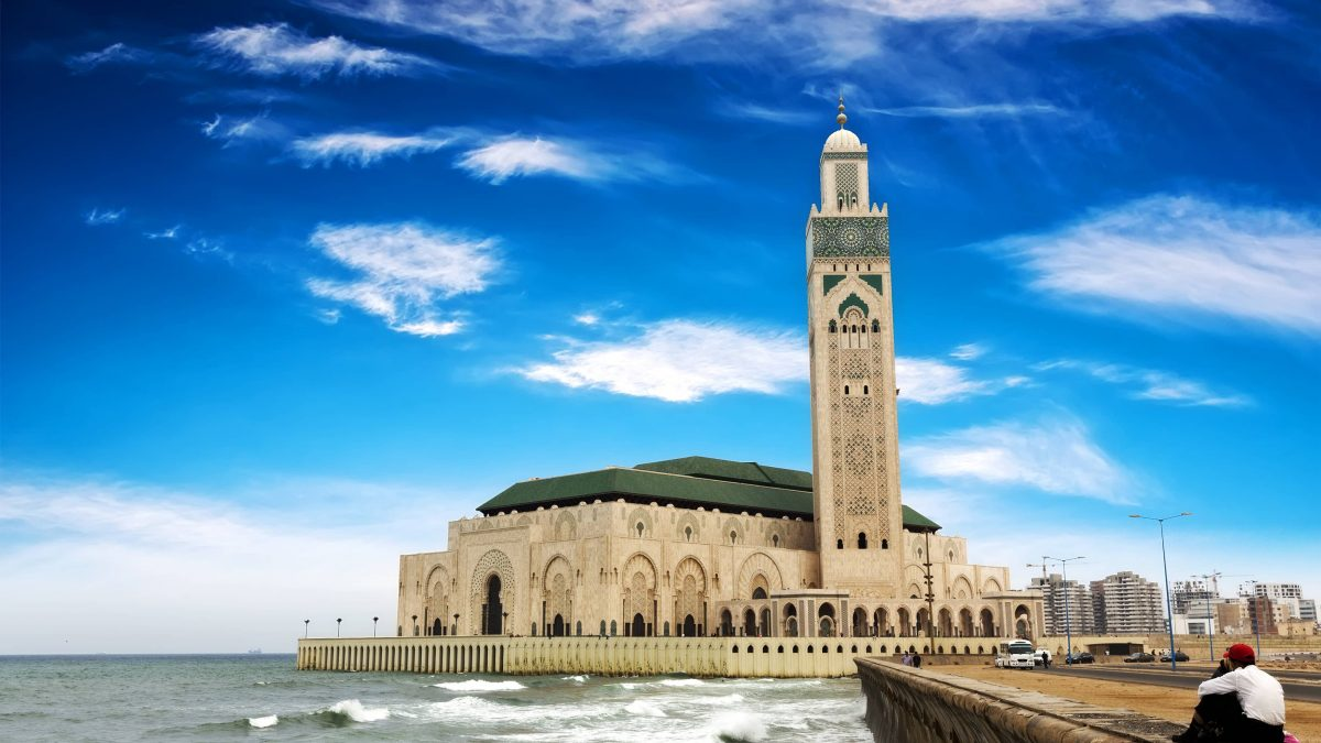 hassan ii moskee in casablanca marokko