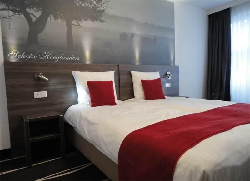 Hotelkamer van De Bonte Wever in Assen, Drenthe