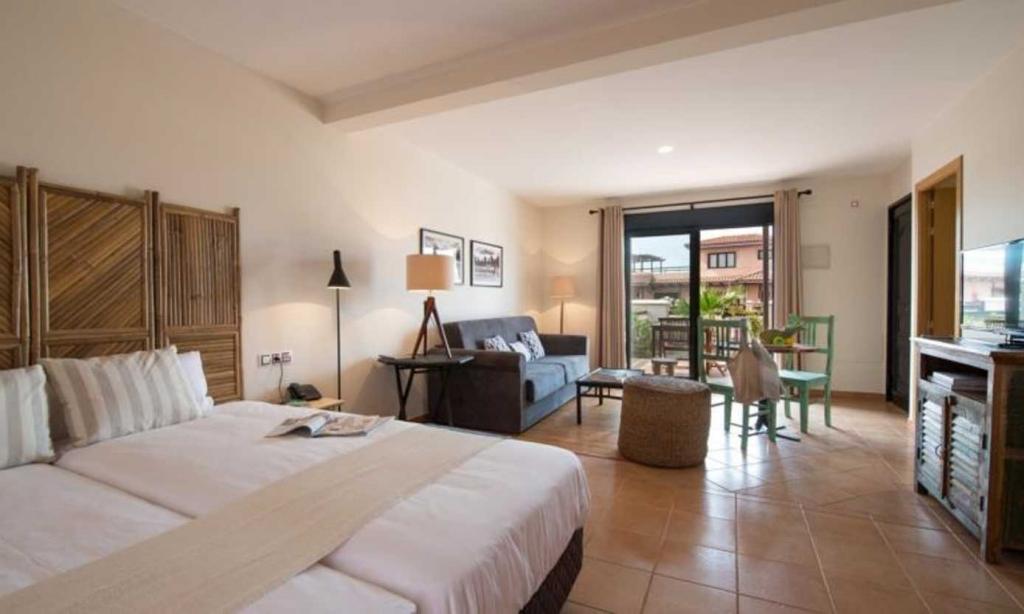Slaapkamer in villa van Origo Mare Village Club in Lajares, Fuerteventura