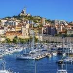 Kasteel en haven van Marseille, Frankrijk