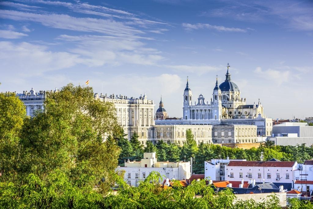 Kathedraal van Madrid in Spanje