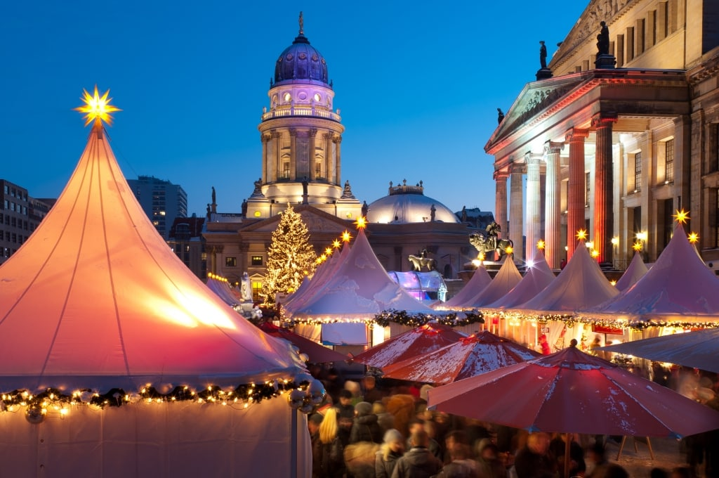 Kerstmarkt in Berlijn, Duitsland
