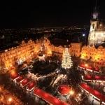 Kerstmarkt in Praag, Tsjechië