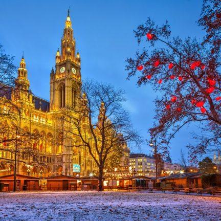 Kerstmarkt Stephansdom in Wenen, Oostenrijk