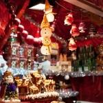 Kraam op een kerstmarkt