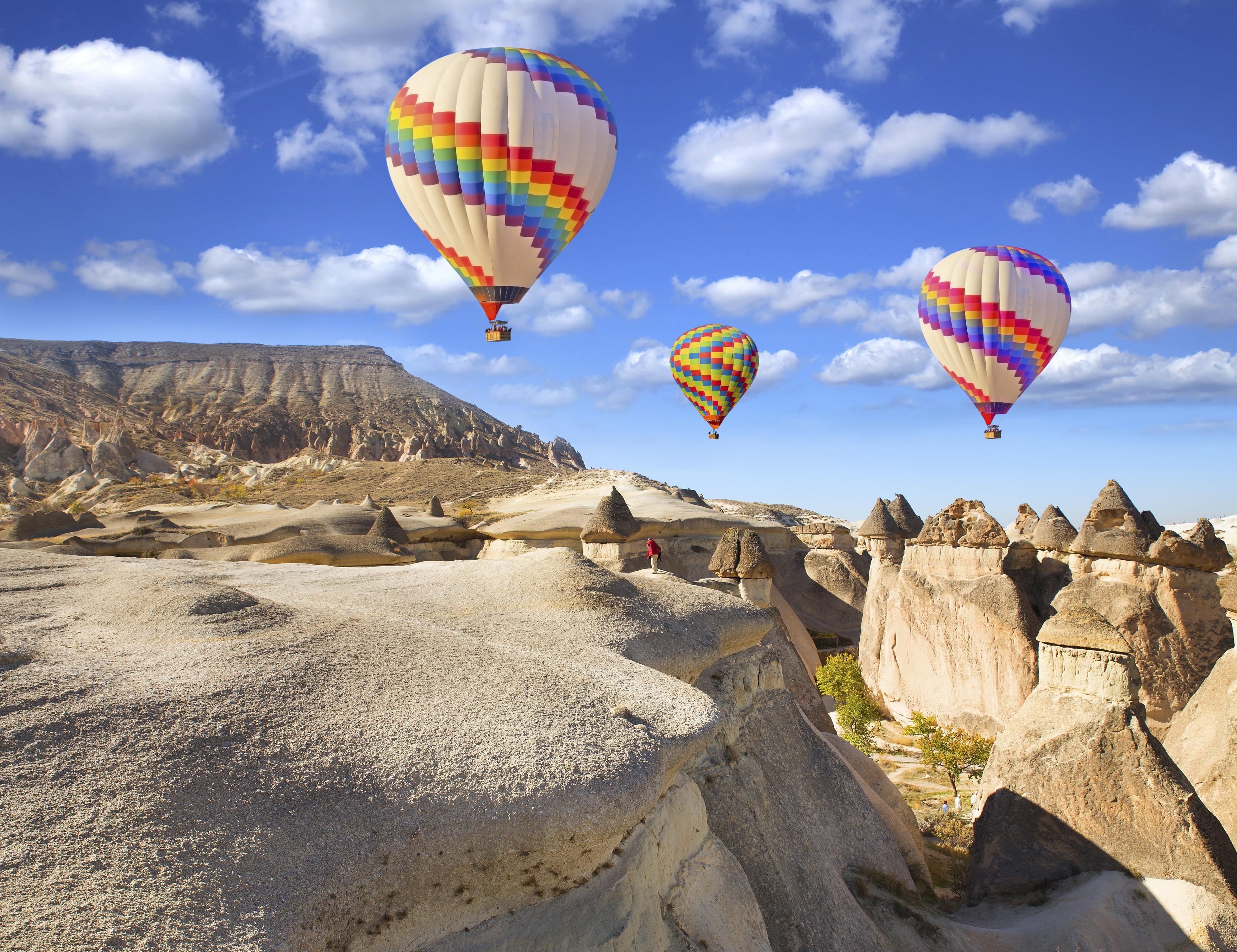 Luchtballonnen in Cappadocië, Turkije