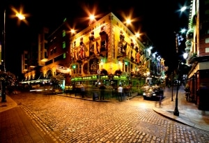 Temple Bar straat in Dublin, Ierland